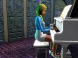 Игра на фортепиано.Sims 3. Симс 3.